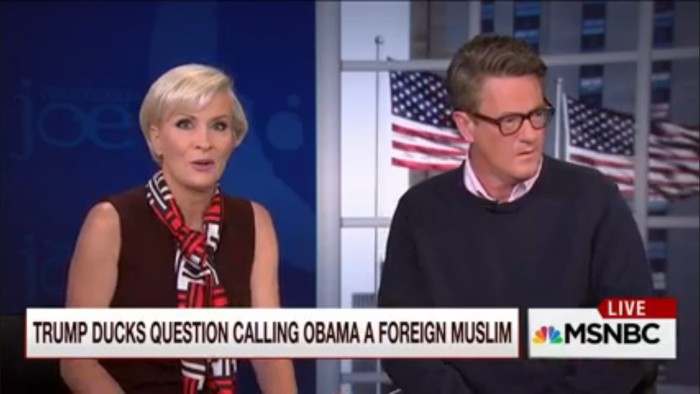 'Morning Joe' Gives Trump The Benefit Of The Doubt After Birther Incident Because Of Course