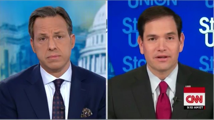 Jake Tapper Asks Marco Rubio If We Should Ignore Terror Watch Lists In Wake Of GOP Gun Vote
