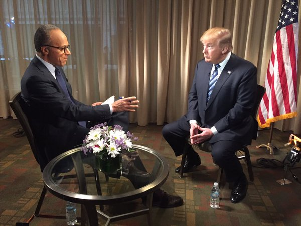 NBC's Lester Holt Is Anchoring 'Nightly News' From Trump Tower Because Of Course