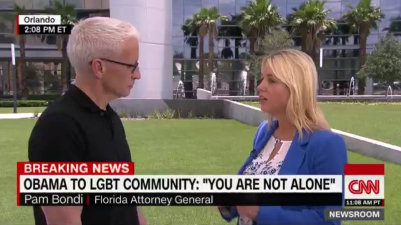 Anderson Cooper DRAGS Pam Bondi For Portraying Herself As A Champion Of LGBT People