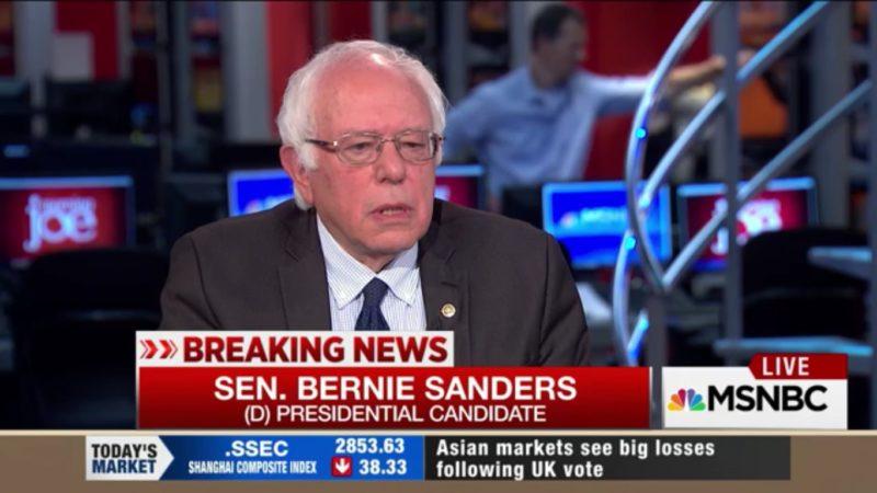 Bernie Sanders Endorses Hillary Clinton Without Really Endorsing Hillary Clinton