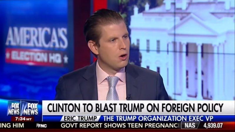 Trump's Son Says Only Citizens Who Watch Crappy Benghazi Movie Should Be Allowed To Vote