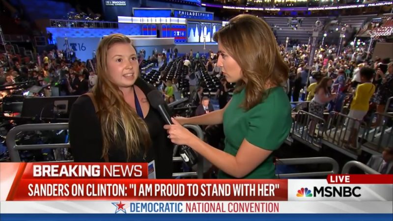 Bernie Delegate SO MAD That Sanders Got Prime Speaking Spot On Monday Night