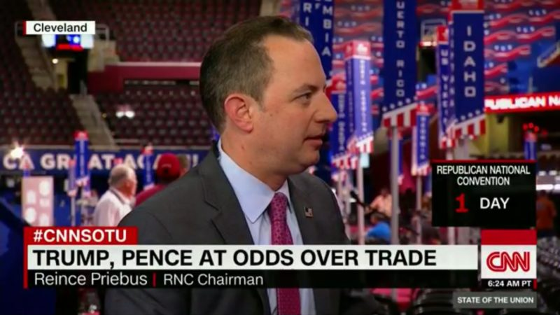Reince Priebus Tries To Put Positive Spin On Mike Pence Pick, Falls Flat On His Face