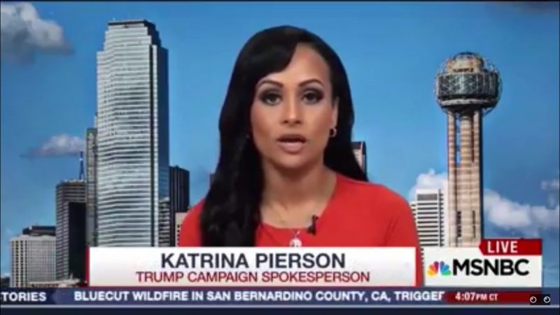 Katrina Pierson Is Apparently Now A Neurologist, Claims Hillary Has Severe Brain Damage