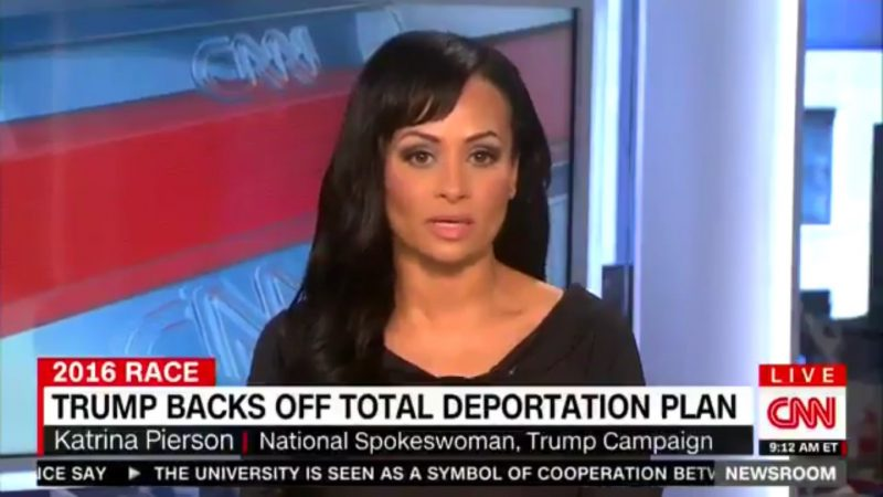 """Katrina Pierson Claims Trump Hasn't Shifted On Immigration, He's Just """"Changed The Words"""""""