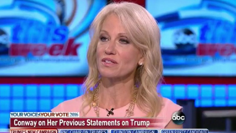 """New Campaign Manager Kellyanne Conway Insists Trump """"Doesn't Hurl Personal Insults"""""""