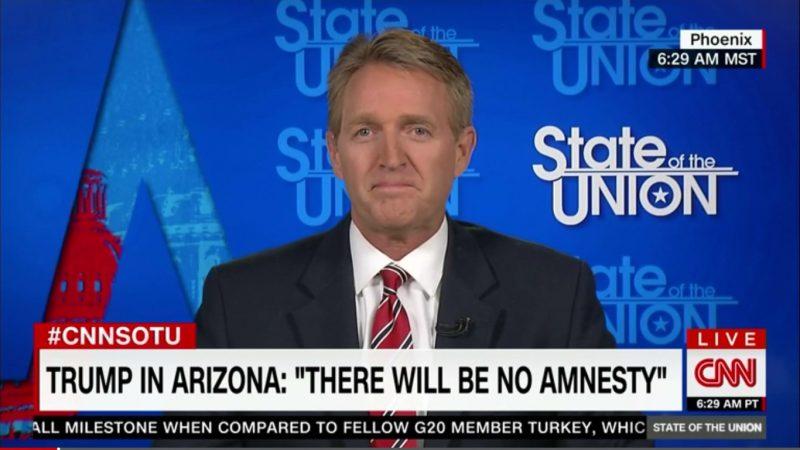 GOP Senator Jeff Flake Won't Vote For Trump, Sees Hillary Clinton Winning Arizona
