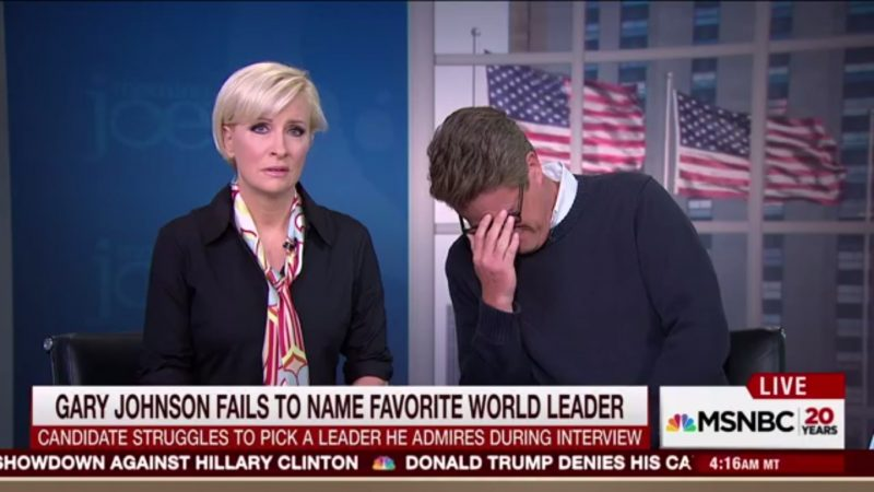 """Scarborough On Gary Johnson: """"You Can Smoke Pot And Listen To The Radio At The Same Time!"""""""