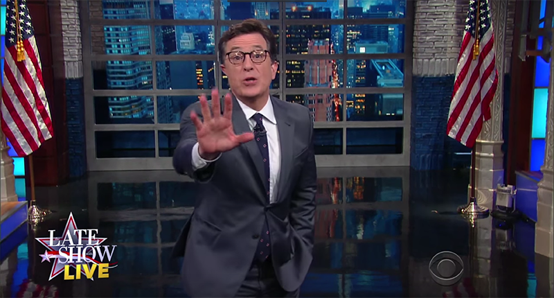 Stephen Colbert Wonders If Donald Trump Will Wipe His Ass With The Constitution