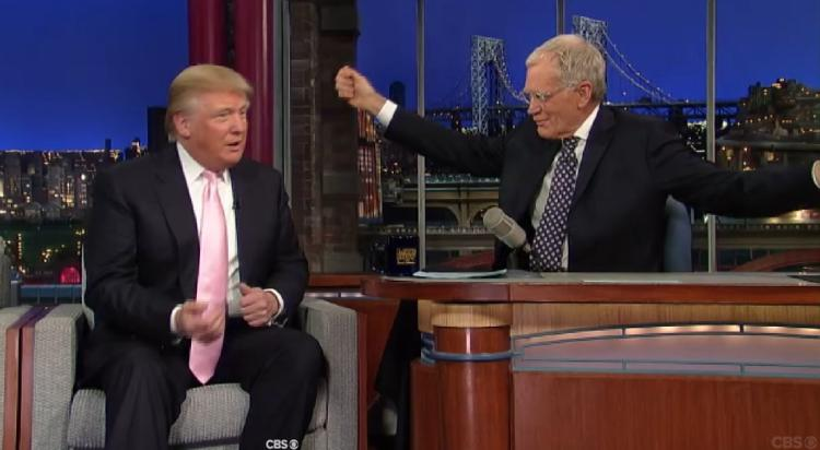 "David Letterman: ""Damaged Human Being"" Donald Trump Is A ""Person To Be Shunned"""