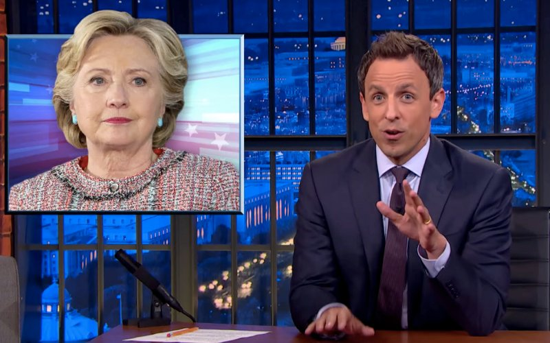 Seth Meyers Takes On Clinton's Speeches: You Weren't Paid For Movie Reviews
