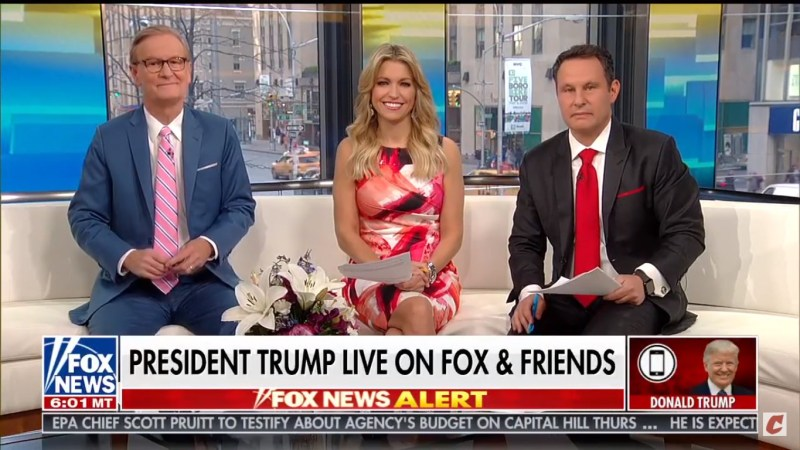 Trump Begins Off-The-Rails Fox & Friends Interview By Admitting He Didn't Get Melania A Birthday Gift