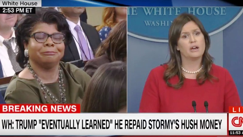 Sarah Sanders To April Ryan: 'You Don't Know Much About Me In Terms Of What I Feel'