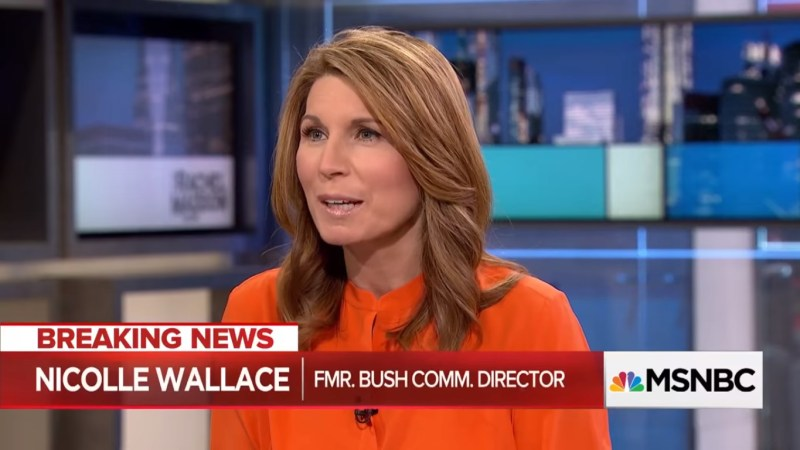 MSNBC's Nicolle Wallace Leads Time Slot Wednesday In Total Viewers And Demo