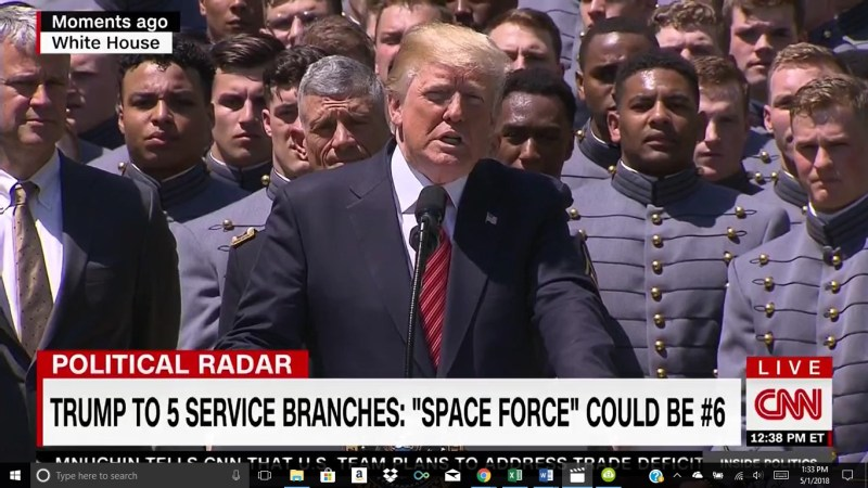 Watch President Trump Wax Poetic On The 'Space Force': 'We're Getting Very Big In Space'