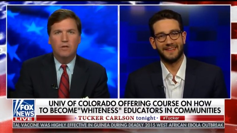 Tucker Carlson Tries To Force Guest To 'Make A Negative Generalization' Of A Non-White Race