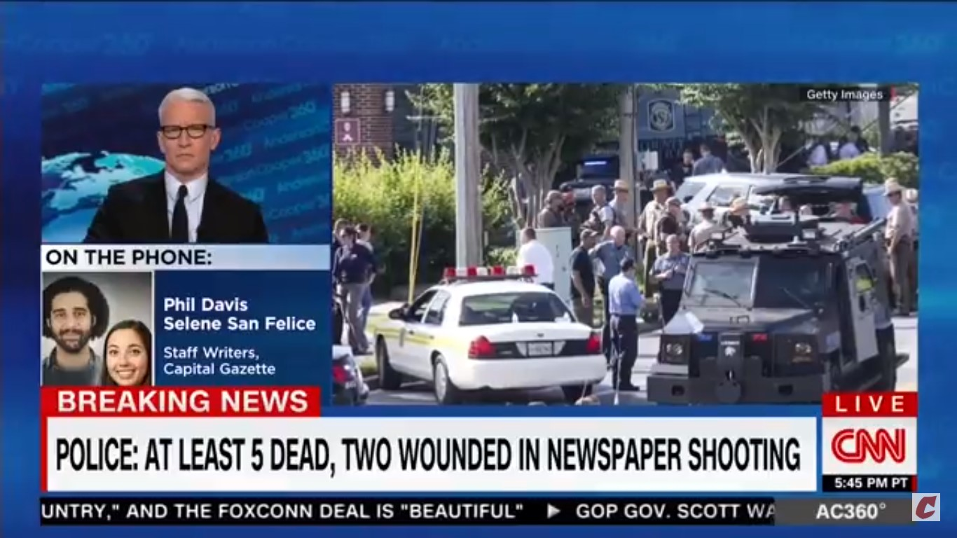 Capital Gazette Reporter: 'I Couldn't Give A F*ck' About Prayers 'If There's Nothing Else'