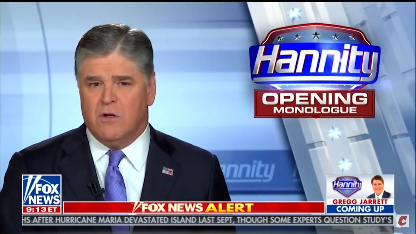 Hannity Cites InfoWars QAnon Conspiracist To Claim He's A 'Target Of The Deep State'