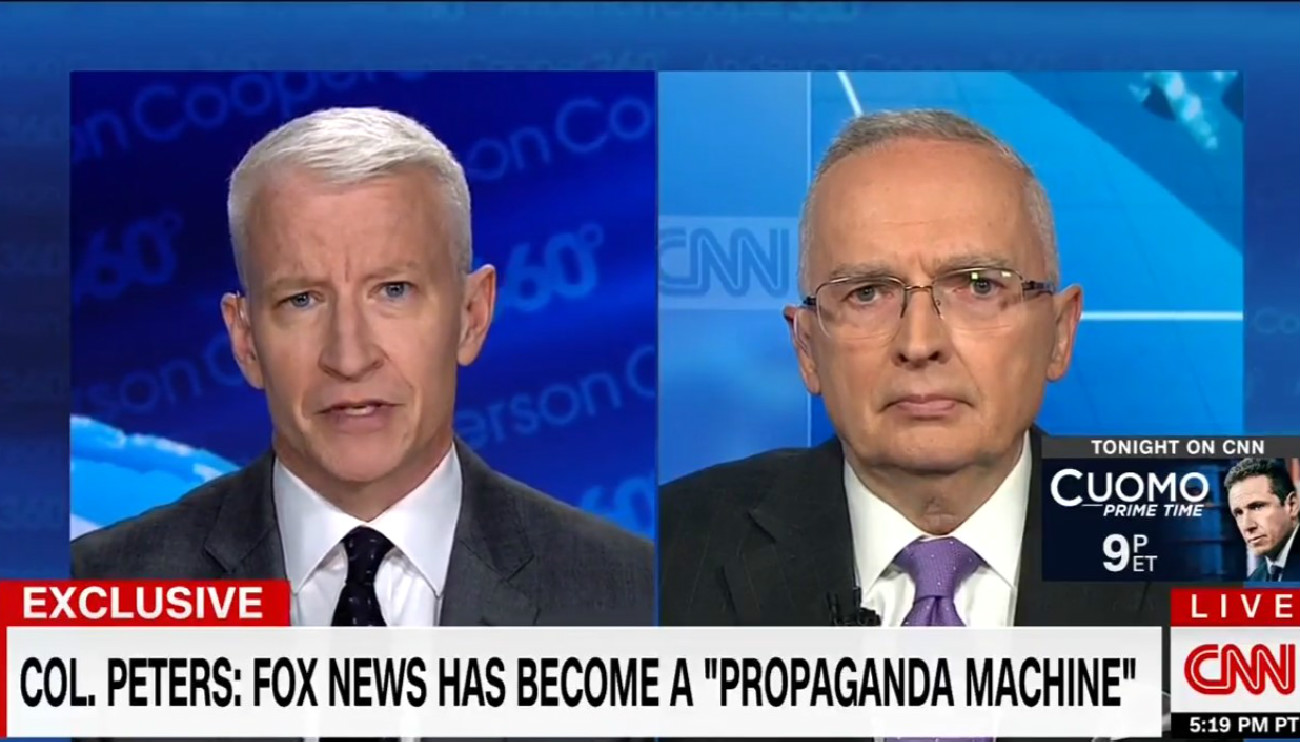 Ex-Fox Analyst Ralph Peters Torches Former Network: It's A 'Destructive Propaganda Machine'