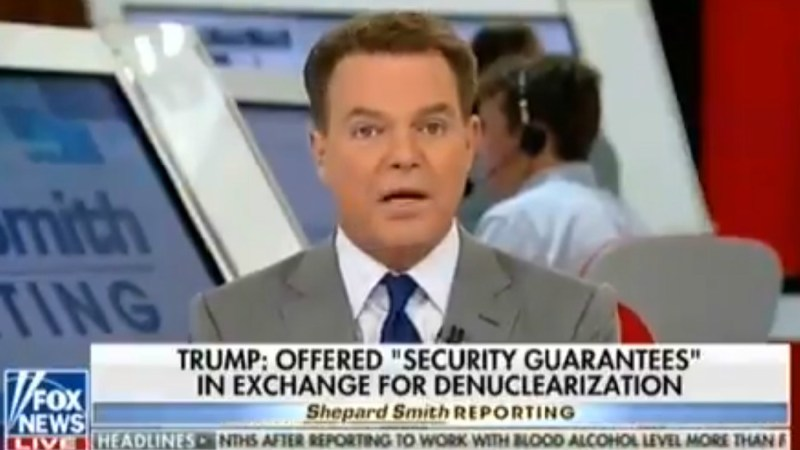 Fox's Shep Smith Unimpressed With Trump Summit: 'Kim Jong Un Got It All For Doing Actually Nothing'