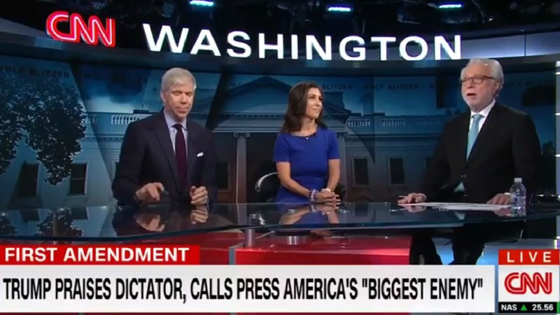CNN's Wolf Blitzer Reassures Viewers: 'We Are Not The Enemy Of The American People'