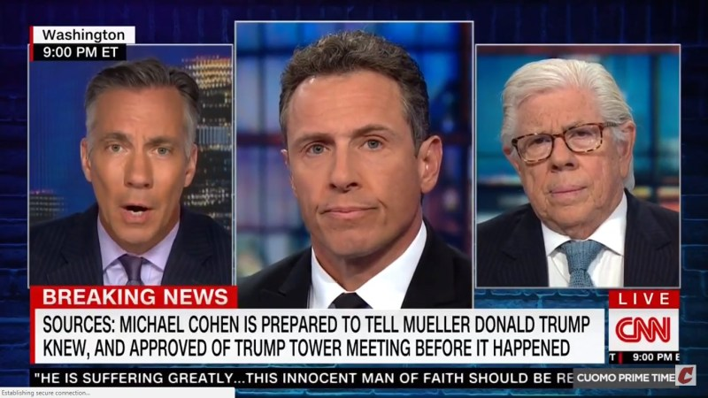 CNN: Michael Cohen Claims Donald Trump Knew In Advance About Trump Tower Meeting