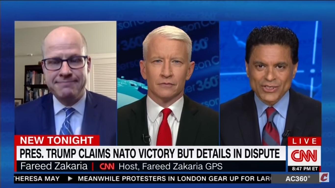 CNN's Fareed Zakaria On Trump's False NATO Claims: 'It's Bullshit, It's Bravado, It's Braggadocio'
