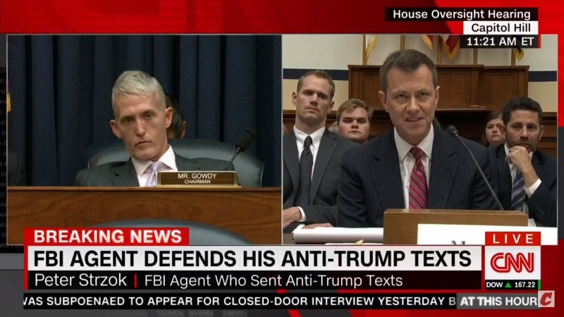 Applause Breaks Out After Peter Strzok Scolds House Republicans For 'Deeply Destructive' FBI Attacks