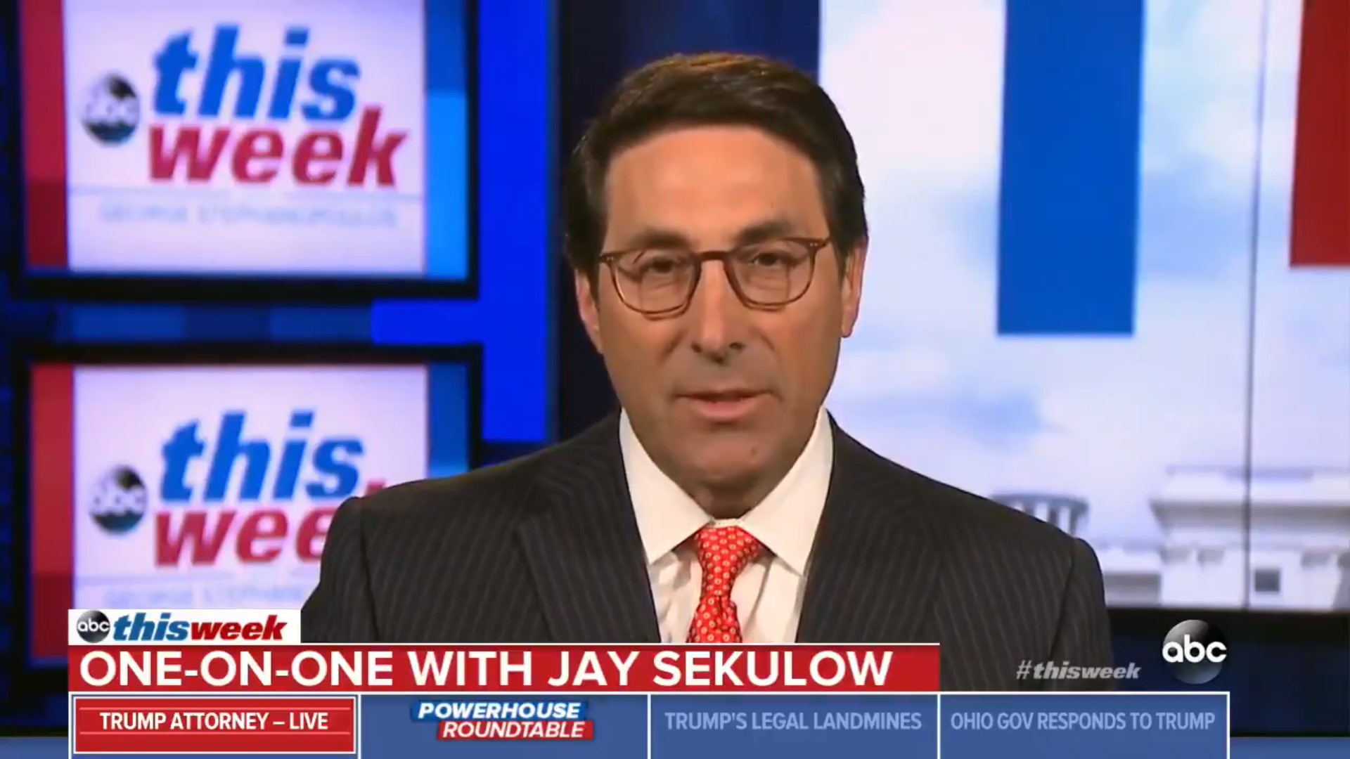 Jay Sekulow On His False Claims That Trump Didn't Dictate Don Jr Statement: 'I Had Bad Information'
