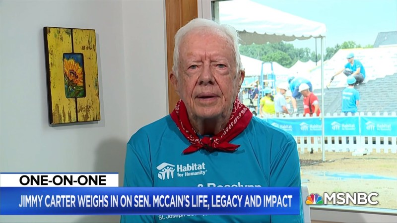 Jimmy Carter Chastises Trump For Initially Refusing To Lower Flag For McCain: 'Very Serious Mistake'