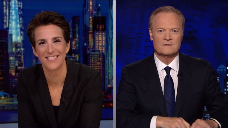 Maddow And Lawrence Lead Cable News In Demo Thursday Night, Hannity Second In Total Viewers