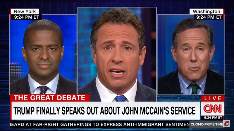 Rick Santorum: 'Why Don't You Beat Up On John McCain' For Not Inviting Trump To His Funeral?