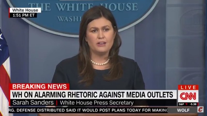 Sarah Sanders Responds To Harassment Of Jim Acosta By Implying Media Is To Blame For 9/11