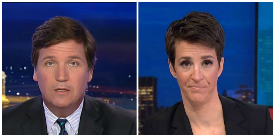 Tucker Most-Watched In Cable News Tuesday Night, Maddow Leads In Demo