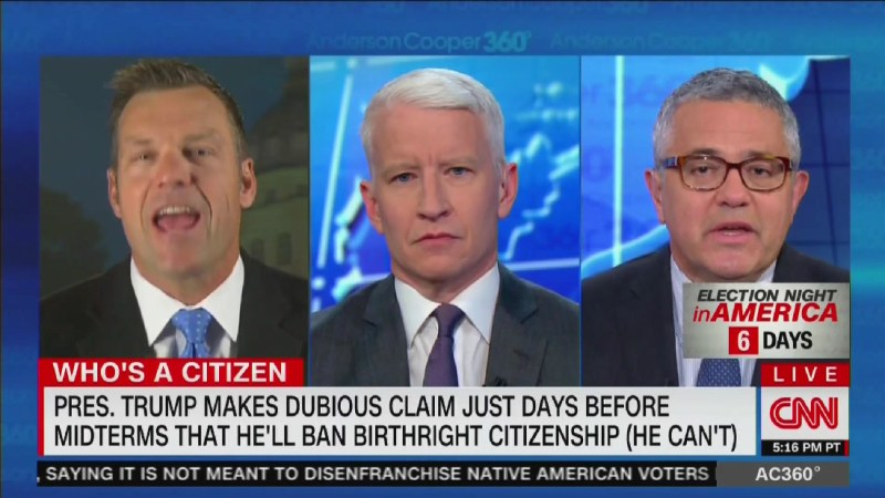 Kris Kobach Blows Up After CNN's Jeffrey Toobin Calls Him A Racist To His Face: 'Absolutely Outrageous'