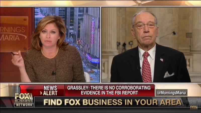 Fox's Maria Bartiromo Asks Chuck Grassley If He Believes George Soros Is Paying Protesters