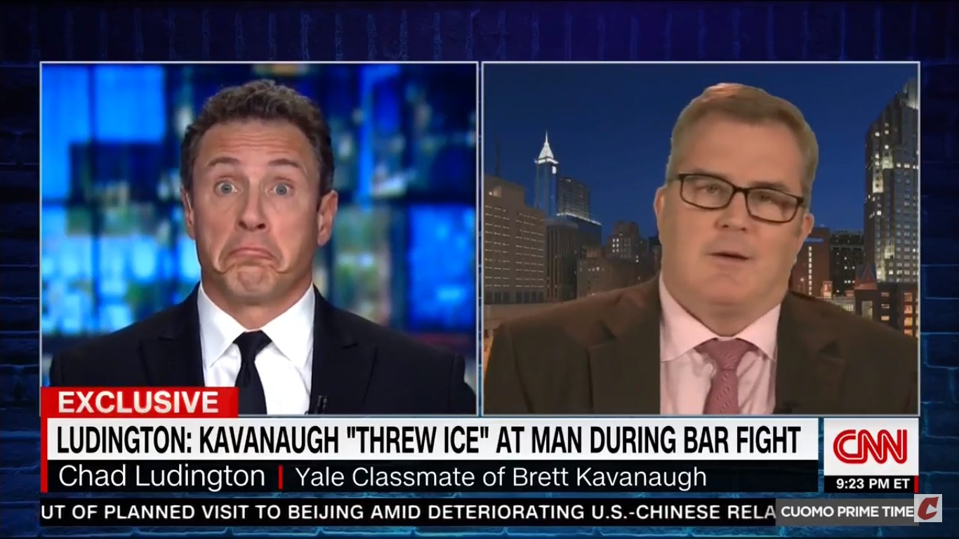 Kavanaugh Classmate Chad Ludington Tosses Out F-Bomb During Live CNN Interview