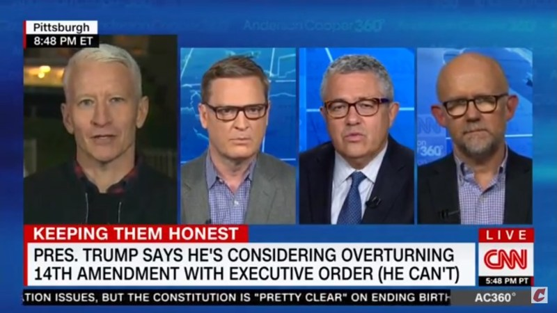 WATCH: Anderson Cooper Grows Increasingly Frustrated With Conservative Panelist Over Birthright Citizenship