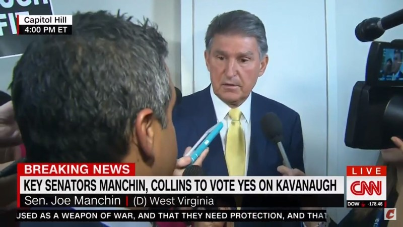 Protesters Shout 'Shame On You!' At Joe Manchin After He Announces He'll Vote For Kavanaugh