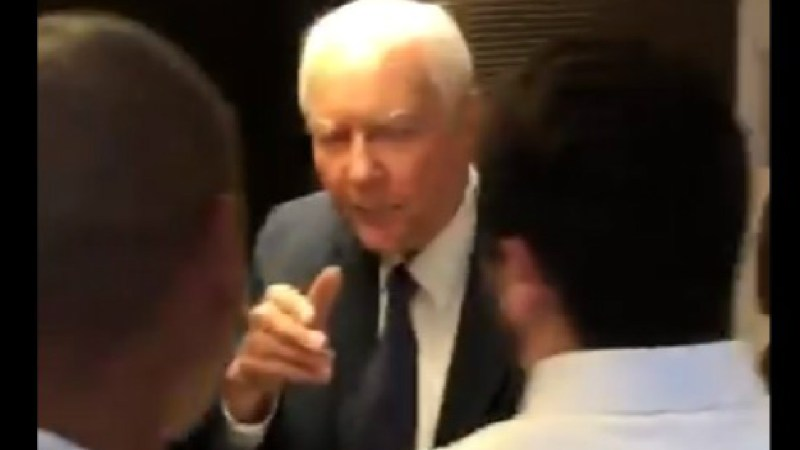 WATCH: Sen. Orrin Hatch Shoos Away Female Protesters And Tells Them To 'Grow Up'