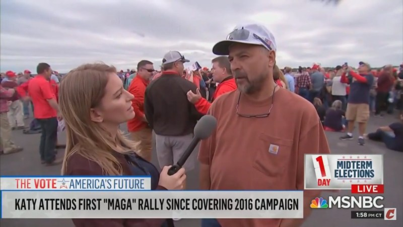 MAGA Rally Attendee Tells Katy Tur He Trusts Tucker Carlson The Most: 'I Don't See Why He Would Lie'