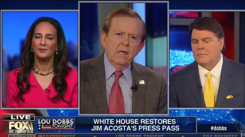 Lou Dobbs Is Big Mad Over Jim Acosta, Says Trump Should Tell Judge To 'Go To Hell'