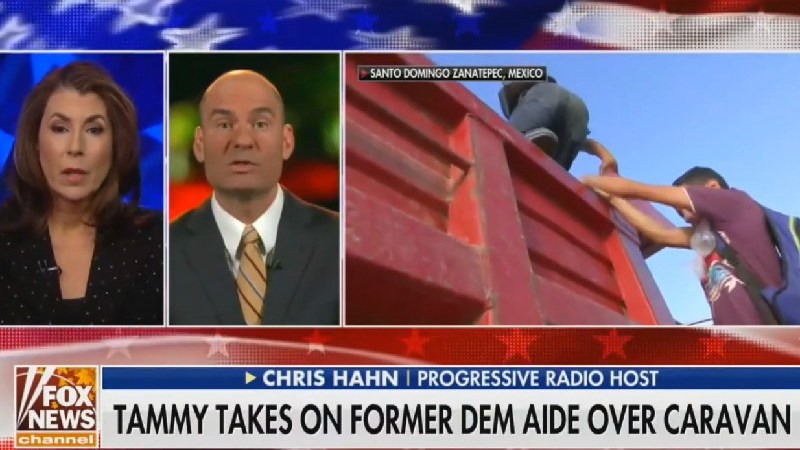 WATCH: Fox's Tammy Bruce Thinks Migrants Climbing Into Truck Are Scaling Border Wall