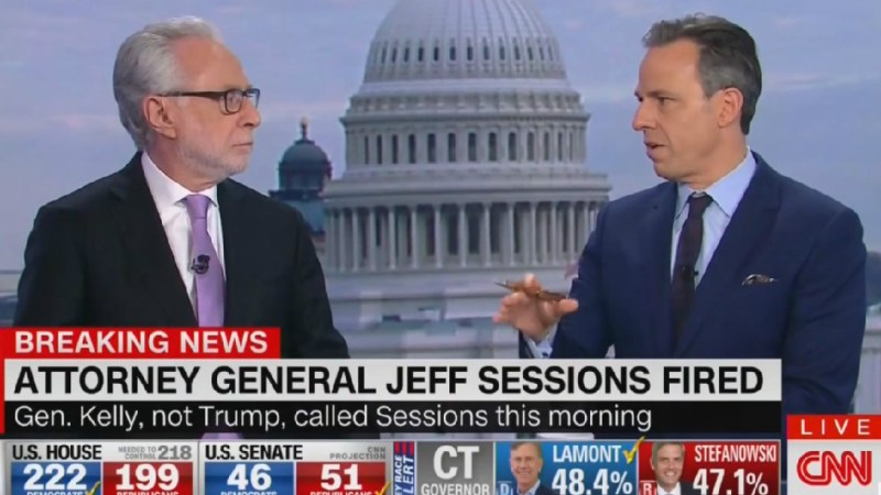 Tapper On John Kelly Firing Sessions: Trump 'Never Has The Stomach' To Say 'You're Fired'