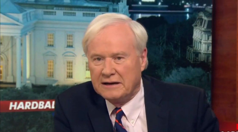 Watch Chris Matthews' Reaction To Joke That He 'Get A Room' With Guest He Heaps Praise On