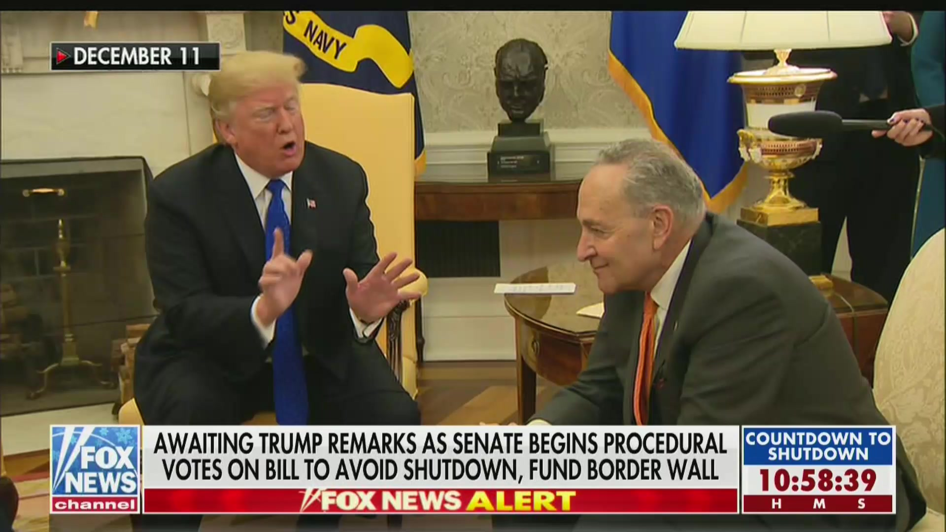 Fox News Reminds Viewers That Trump Said He'd Take Blame For Government Shutdown
