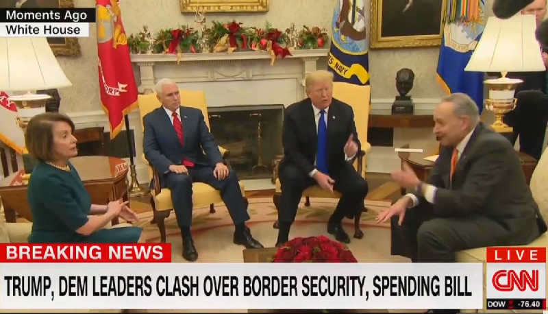 WATCH: Trump Explosively Clashes With Pelosi And Schumer In Extraordinary Shoutfest