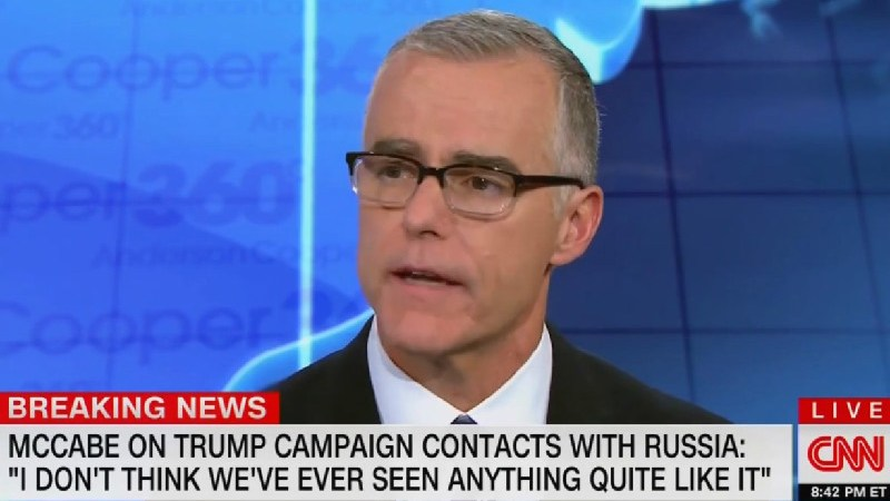 Ex-FBI Director Andrew McCabe: 'I Think It's Possible' Trump Could Be a Russian Asset