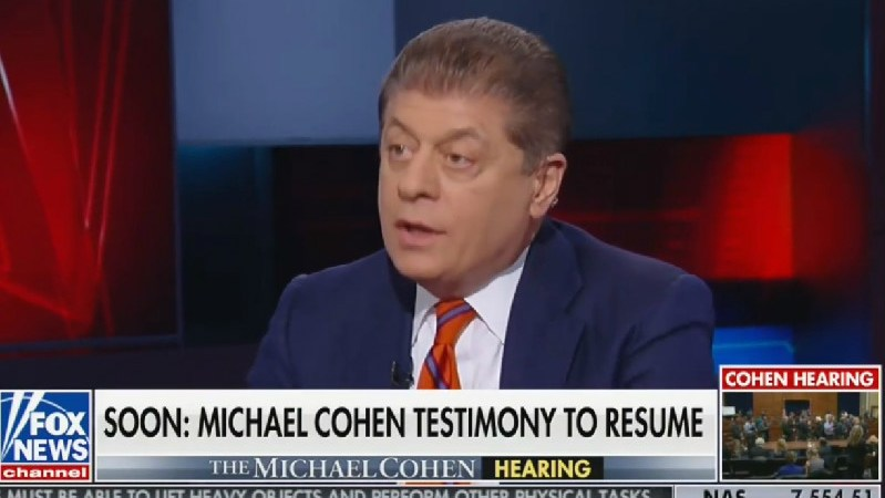 Fox's Judge Napolitano: Michael Cohen 'Paints a Potentially Grave Picture For the President'